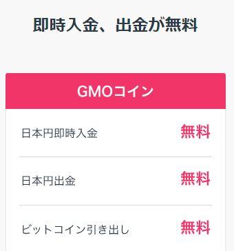 GMOコイン手数料