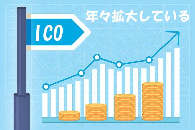 ICOは年々拡大
