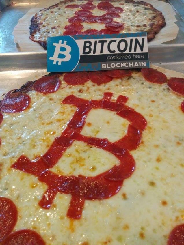 ビットコインでピザ