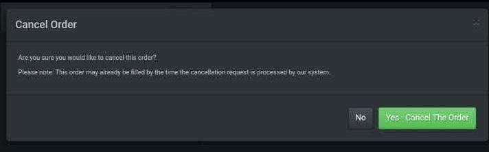 コインエクスチェンジで注文キャンセル方法
