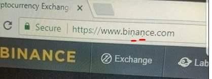 バイナンス偽URL